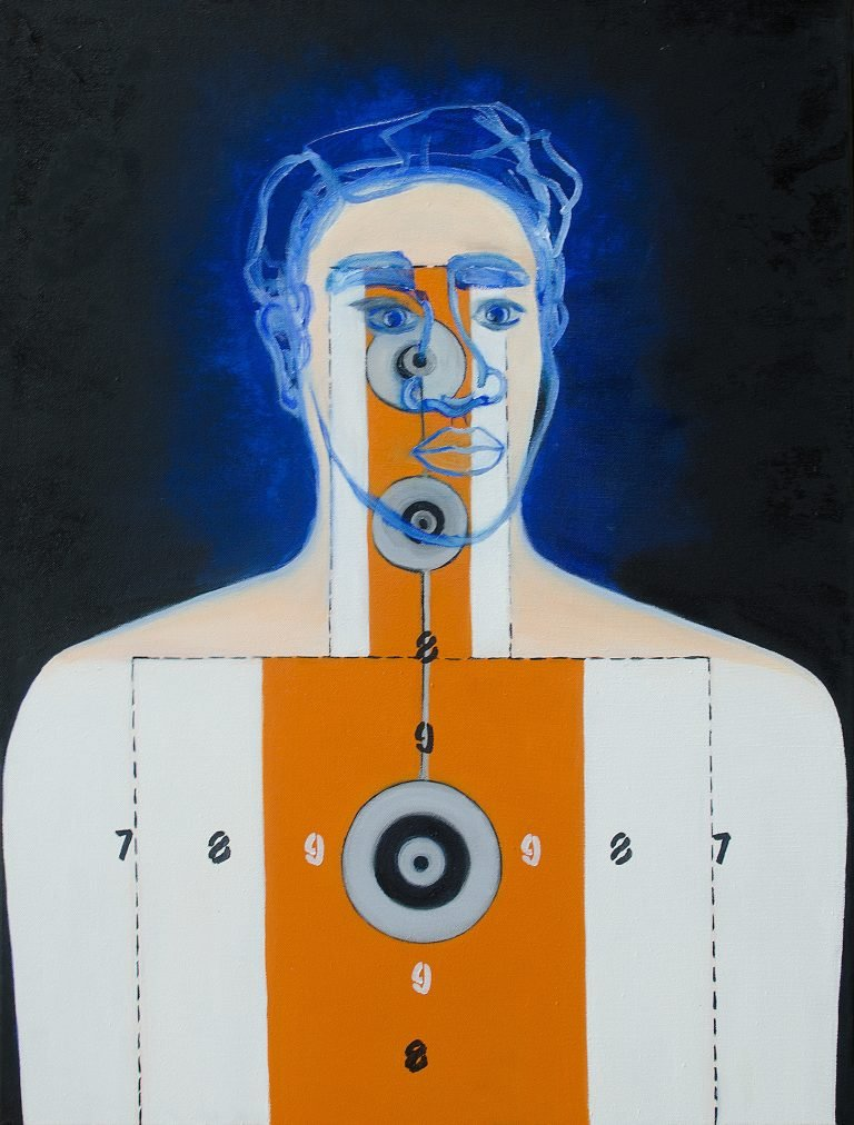 Man used as a target