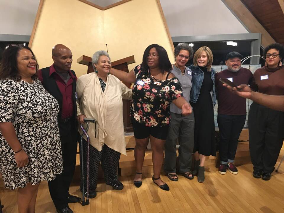 Panelists for Art Against Racism Opening Pose for Picture