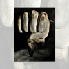 Poetic words in silence with fading in and out photos of sculpture of forearm and fist by Susan Zimmerman