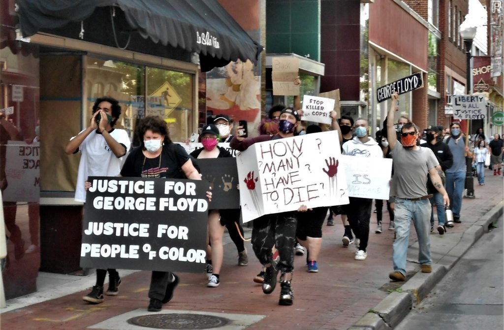 Marchers at Justice for George Floyd Rally