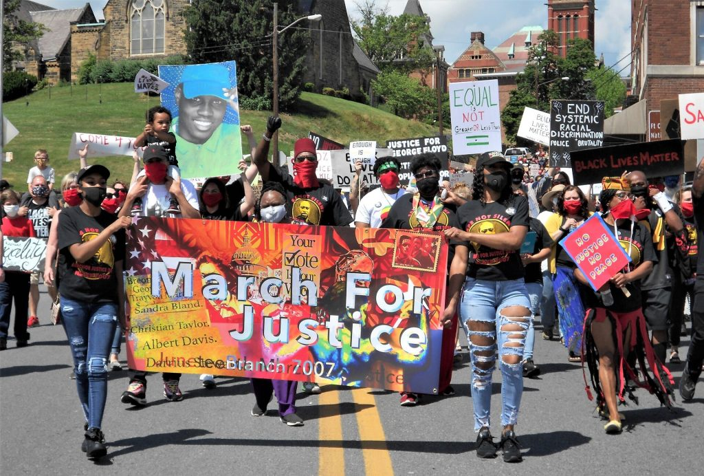 Marchers at March for Justice Rally