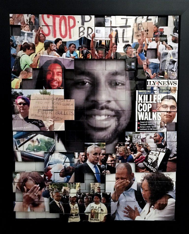 Photomontage featuring Philando Castile