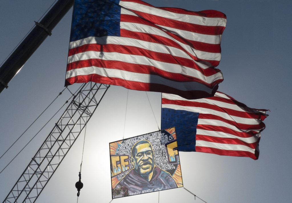 Photography George Floyd Flags