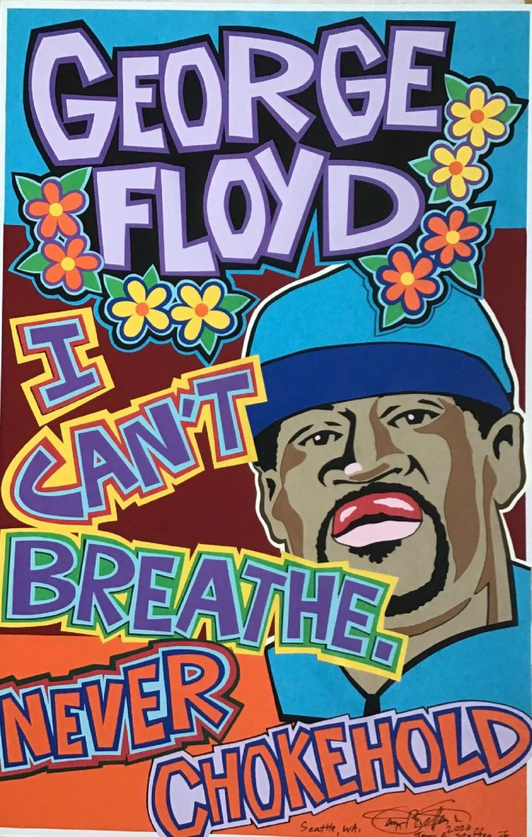 "George Floyd ""I Can't Breath Never Chokehlold"" poster"