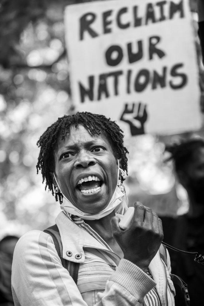 Black Lives Matter protest in Hyde Park, London, 3 June 2020