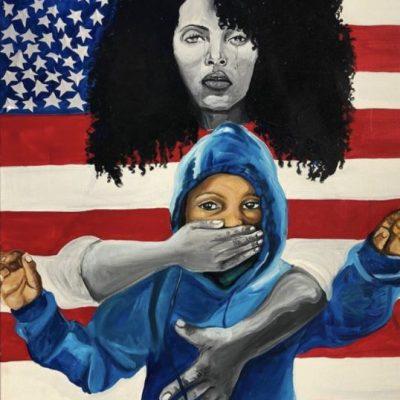 Artist Adrianne Clayton, from the Black Summer 2020 Exhibition in Kansas City